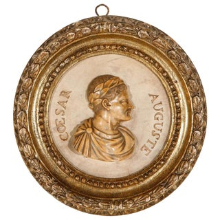 Marble Caesar Medallion, circa 1900
