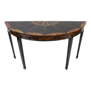 Maitland Smith Demilune Console Table