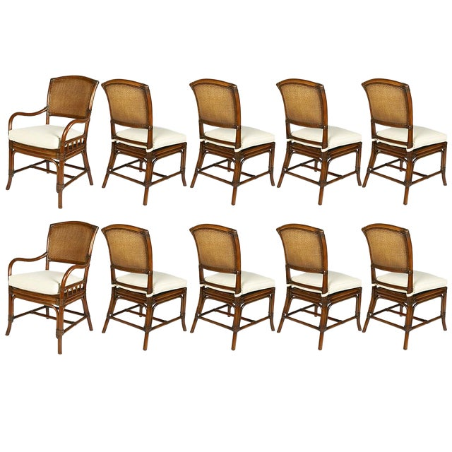 David Francis Cane Back Dining Chairs- Set of 10 - Image 1 of 3