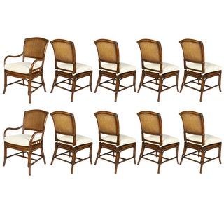 David Francis Cane Back Dining Chairs- Set of 10