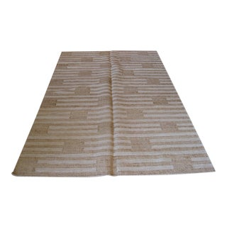 Box and Stripe Flat Weave Rug - 5′ × 8′