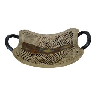 Rustic Ceramic Arced Tray