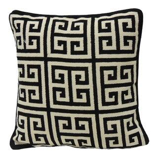 Jonathan Adler Black & White Greek Key Pillow