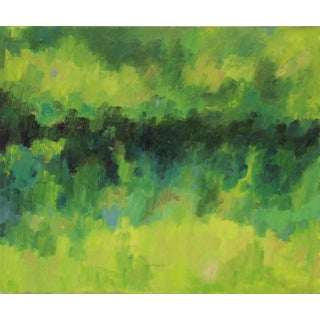 City Park Abstract Oil Painting