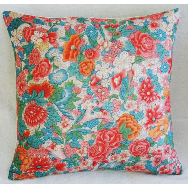 Sale! 4 Summer Floral Linen Pillow Covers - Set 4 - Image 8 of 9