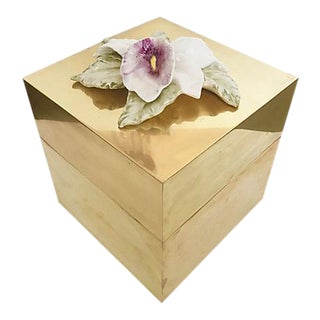 Chapman Floral Brass Box