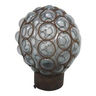 Vintage Sapphire Bubble Glass Shade