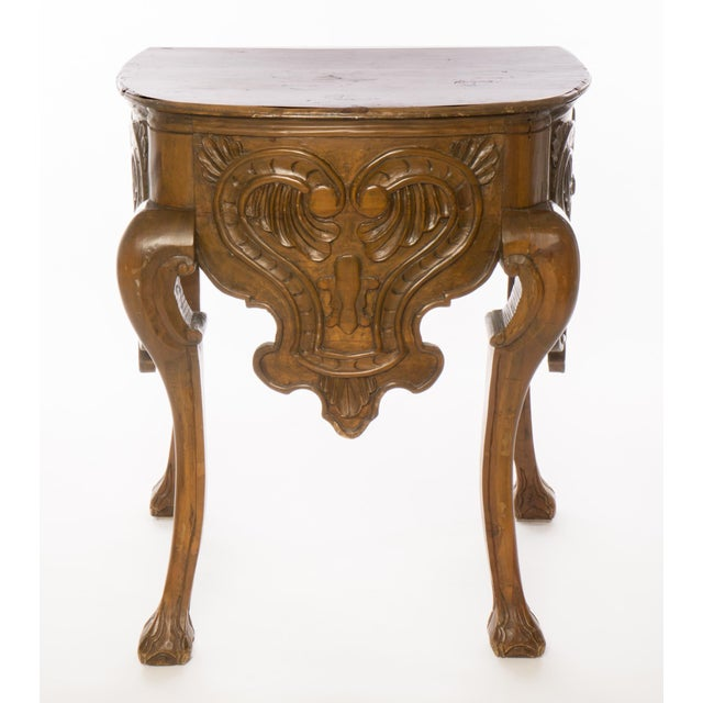 Antique 18th Century Carved Wooden Console Table - Image 2 of 5