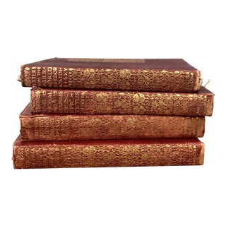 Vintage Red Books - Set of 4