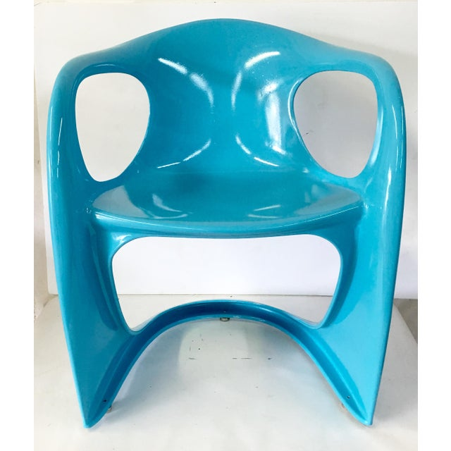 70's German Molded Organic Form Lacquered Armchair - Image 3 of 8