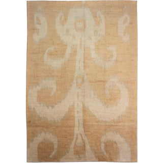 Hand Knotted Modern Ikat Rug - 9′6″ × 11′11″