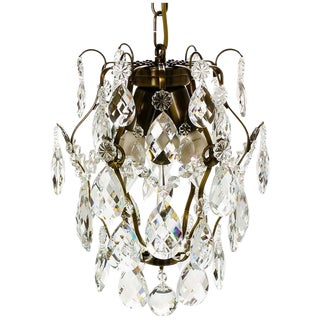 Baroque Chandeliers, Barock Ampel 6 Ebony Almond