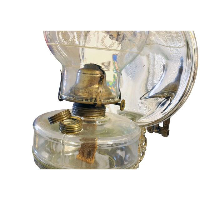 Antique Wall Bracket Oil Lamp : Antique Wall Bracket Oil Lamp in Cast Iron Chairish