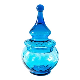 Bright Blue Italian Candy Jar
