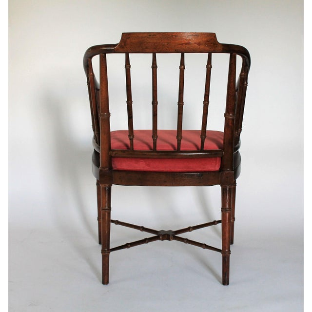 Faux Bamboo Armchair - Image 6 of 8