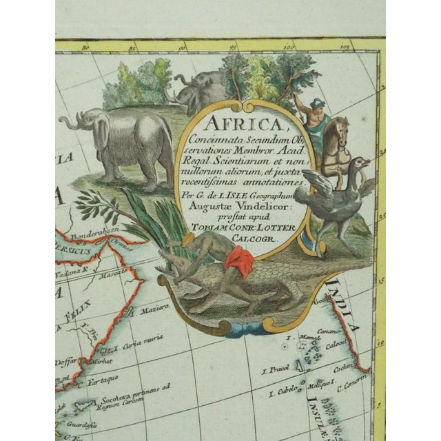 1778 Africa Map by Lotter - Image 5 of 10
