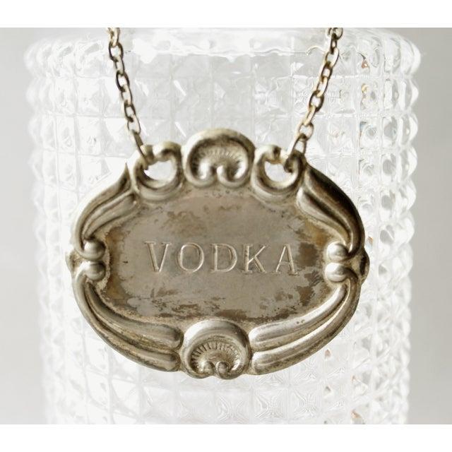 Image of Vintage Crystal Glass Liquor Decanter Bottle Vodka