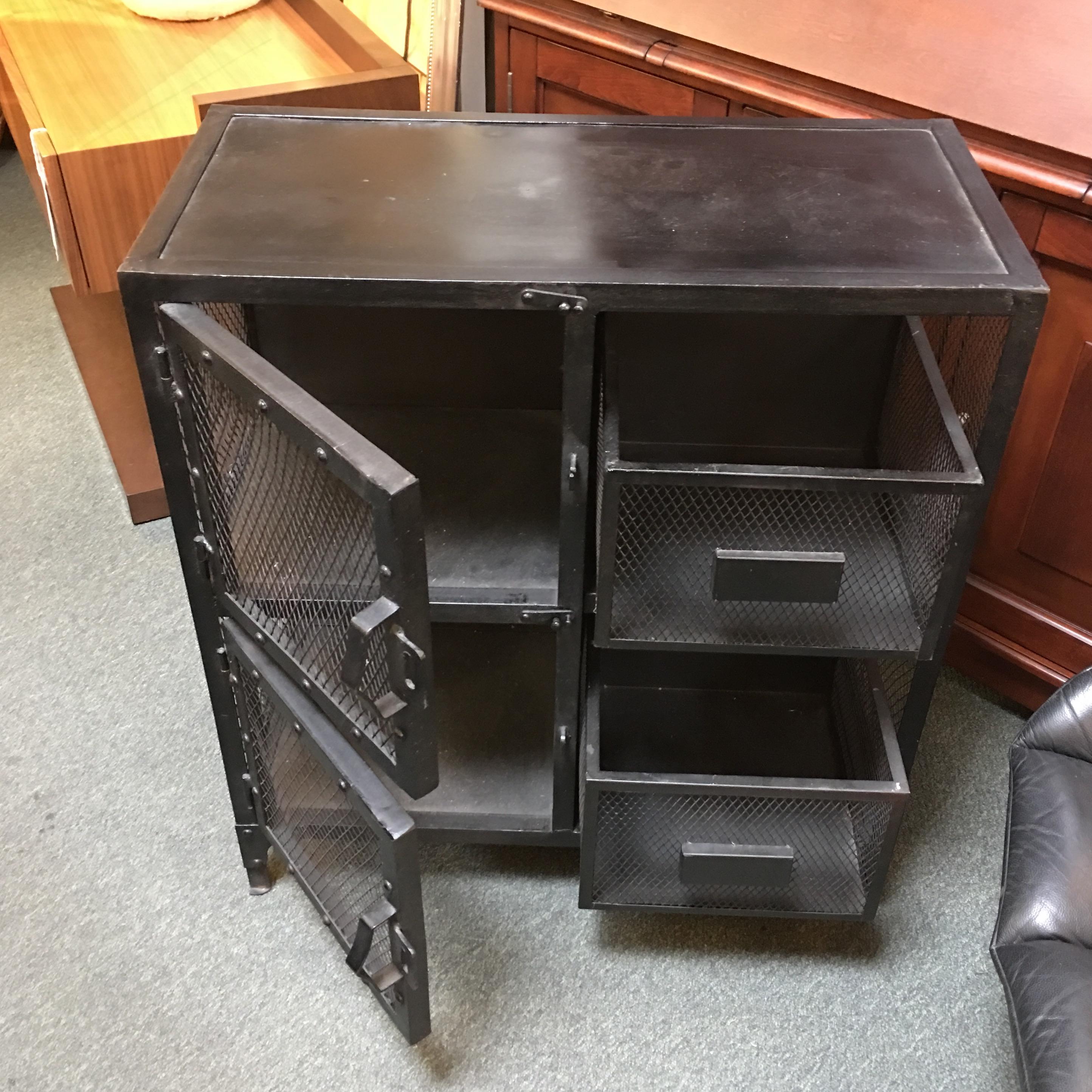 Restoration Hardware Industrial Metal Cabinet Chairish