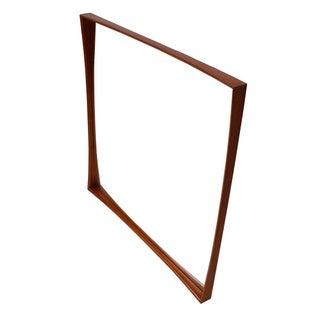 Danish Teak Concave Frame Mirror