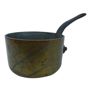 French Copper Saucier Pot Made in France Great Patina