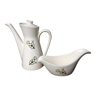 Stetson Dogwood Pitcher & Gravy Boat