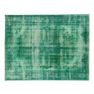 Iran Persian Mint Green Overdyed Rug 9' x 11'