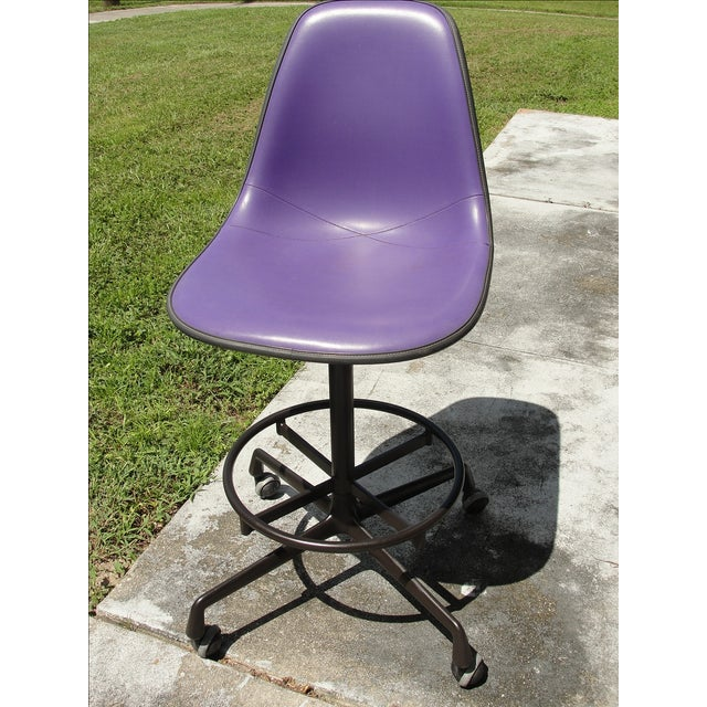 Mid-Century Eames Purple Stool by Herman Miller - Image 3 of 9