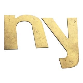 "Vintage Brass ""N"" and ""Y"" Letters"