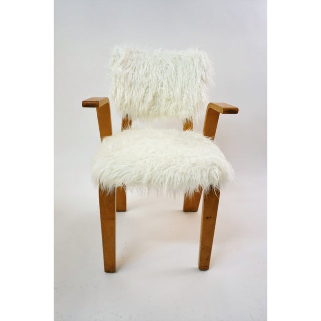 Thonet Grasshopper Style Chair With Mongolian Fur Chairish