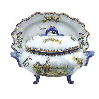 Quimper Bouillabaisse Tureen & Platter