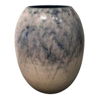 Blue Ceramic Art Vase Vintage