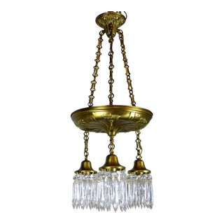 3 Light Shower Fixture with Crystals