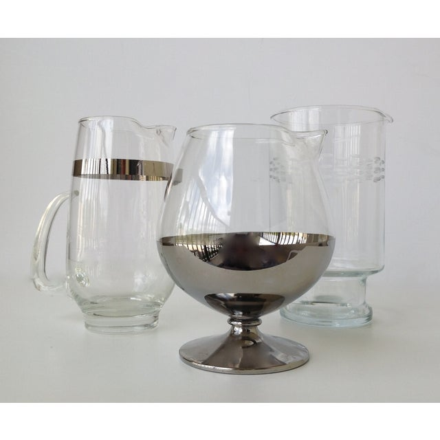 Image of Assorted Glass & Silver Cocktail Mixers - Set of 3