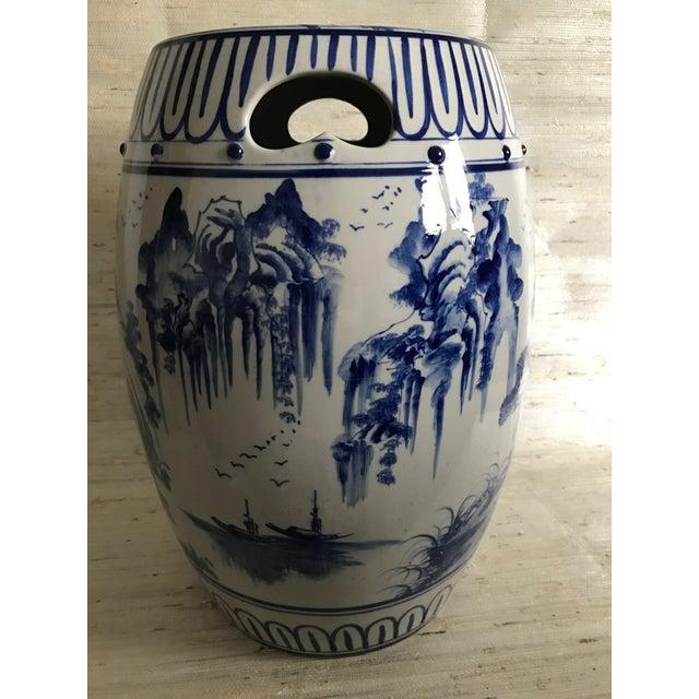 Antique Chinoiserie Ceramic Garden Stool - Image 6 of 6