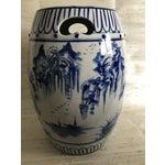 Image of Antique Chinoiserie Ceramic Garden Stool
