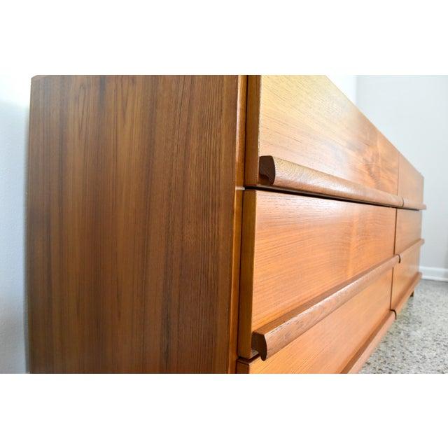 Image of Vintage Danish Modern Teak Lowboy Dresser