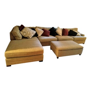 King Hickory Casbah Sectional With Ottoman