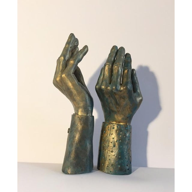 Hand-Made Sculptural Hands - A Pair - Image 4 of 8