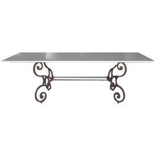 Italian Carrara Marble Top Dining Table
