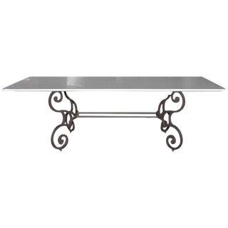 Italian Carrara Marble Top Dining Table
