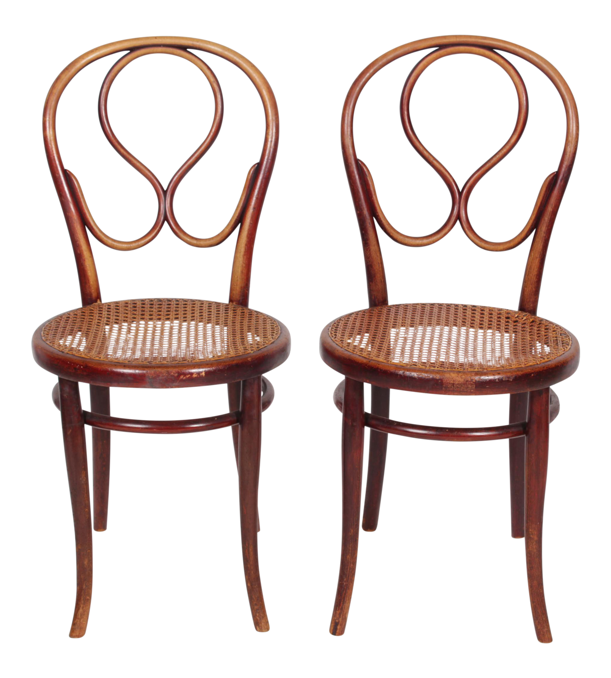 1920s thonet labeled bentwood chairs a pair image 1 of 8