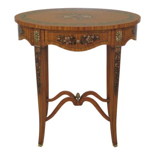 Maitland-Smith Adams Satinwood Paint Decorated End Table