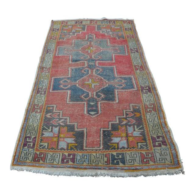 Antique Turkish Oushak Rug - 4′ × 8′1″ - Image 1 of 7