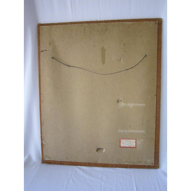 J. Mader Signed Mid Century Painting - Image 6 of 7