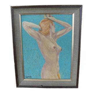 Vintage 1971 Oil on Board Nude Study by Teefer II