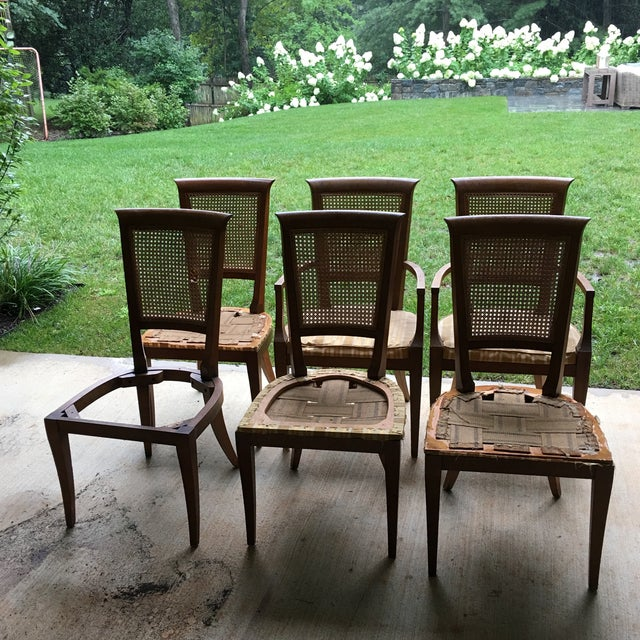 Baker cane back dining chairs set of 6 chairish for Chair 6 mt baker