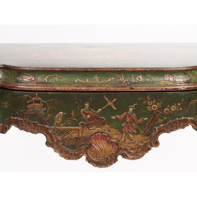 Chinoiserie Decorated Console Table with a Drawer - Image 8 of 11