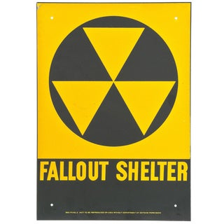 1950s Vintage New Old Stock Fallout Shelter Sign