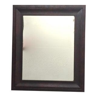Antique English Mahogany Mirror