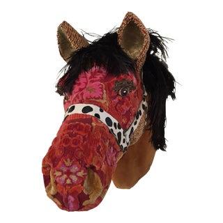 Antique Fabric Horse Head